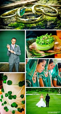 Green Wedding Theme Colors