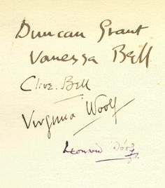 Bloomsbury Group signatures
