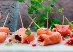 Lufttorkad skinka med vitlökskräm Caramel Apples, Lchf, Love Food, Tapas, Sushi, Snacks, Appetizers, Eat, Ethnic Recipes