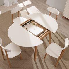 Tavolo allungabile - Tavolo da pranzo ovale o rotondo con piano ...