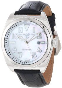 Swiss Legend Men's 20434-02MOP Heritage White Mother-Of-Pearl Dial Watch Swiss Legend. $149.99. White mother of pearl dial with silver tone and white hands, hour markers and Arabic numerals; luminous; screw-down crown. Sapphire crystal; stainless steel case; black leather strap with alligator pattern. Water-resistant to 100 M (330 feet). Date window at 3:00. Swiss quartz movement. Save 81% Off!