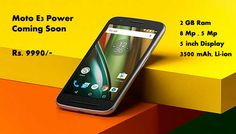 Motorola #MotoE3Power ready to Launch at 19 Sept 2016 Only on #Flipkart for more #offers using #FabPromoCodes #Coupons.