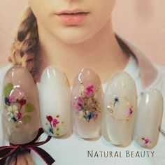 Beautiful nail art designs that are just too cute to resist. It's time to try out something new with your nail art. Fancy Nails, Cute Nails, Pretty Nails, Bridal Nails, Wedding Nails, Hair And Nails, My Nails, Kawaii Nails, Flower Nail Art