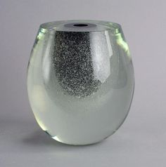 "Timo Sarpaneva for Iittala, Finland Unique hand blown ""Claritas"" vase with internal bubbles in black and clear glass, 8 Width ""TIMO SARPANEVA Print a tearsheetMore items by Timo SarpanevaMore Iittala Clear Glass, Wine Glass, Glass Art, Bubbles, Arts And Crafts, Ceramics, Sculpture, Etsy, Vintage"