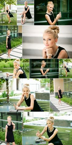 Audrey Hepburn Breakfast at Tiffany's inspired senior portrait session