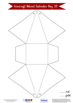 Trimcraft Advent Calendar Day 20- Free Printable Tree Gift Box Template