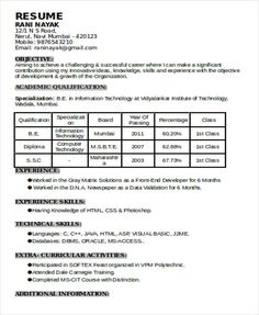Resume Format For 7 Months Experience - Resume Templates Best Resume Template, Resume Design Template, Free Resume, Student Resume, Job Resume, New Resume Format, No Experience Jobs, Curriculum Vitae Template, Resume