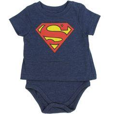aff96e8fea1 Superman Boys Shirt Onesie