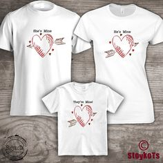 Family tshirts Valentines Day coordinating matching by StoykoTs