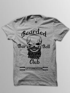 Bearded Barbell Club Men's T-shirt – Lift For Meat