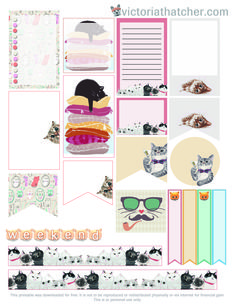 Cat Lover Free Printable for Large Happy Planner, Stay Golden