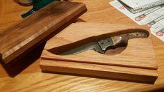 Custom knife box walnut and red oak with paduke double dovetail slides