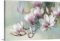 Shop for Portfolio Canvas Decor Magnolia Morning Teal Canvas Wall Art. Get free delivery On EVERYTHING* Overstock - Your Online Art Gallery Store! Teal Canvas Art, Canvas Art Prints, Painting Prints, Canvas Wall Art, Big Canvas, Painting Trees, Framed Prints, Painting Canvas, Oil Paintings