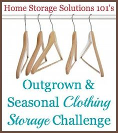 Step by step instructions for a seasonal clothing switch and organizing hand me down clothing between children! {part of the 52 Week Organized Home Challenge on Home Storage Solutions 101}