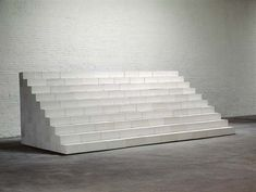 Carl Andre, Cascade 1984 Aerated concrete blocks