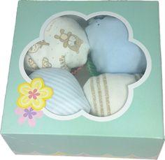 4 Cupcakes ropita de bebé niño