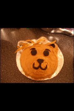 Teddy bear girl cake