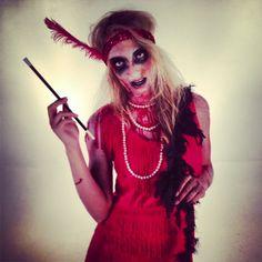 SNEAK PEAK! Upcoming zombie flapper DIY tutorial just in time for Halloween!