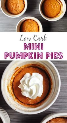 Low carb mini pumpkin pies are so easy to make and a delicious Paleo treat!