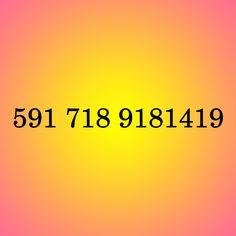 Código 591 718 9181419 para atrair a pessoa ressonante - Regra Dourada. Se pensa em atrair uma pessoa amorosa para você, este pensamento irá propagar-se pelo universo e amplificar-se criando a intensificação do seu pensamento. Logo, o uso deste código vai atrair a pessoa com a mesma frequência sua, seu mesmo nível de consciência, enfim uma pessoa muito parecida contigo.