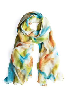 Flutter You Up To? Scarf from ModCloth.com  ...bright colors perfect for spring...