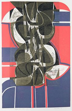 """Peter Green """"Night White Silver"""" woodcut and stencil print http://www.stjudesprints.co.uk/collections/peter-green"""