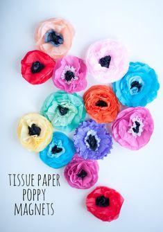 Tissue Paper Poppy M