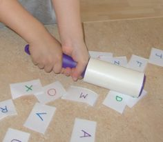 Stick & Say Alphabet Game - pinned by @PediaStaff – Please Visit ht.ly/63sNtfor all our pediatric therapy pins