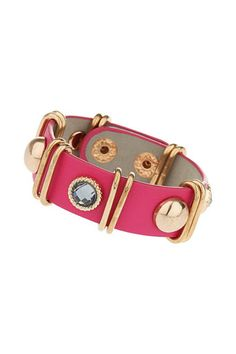 #wallis Fuchsia Stone Bracelet - stylish way to rock a #dress