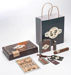 Leavitt + Peirce// Cigar and Whiskey (Packaging)