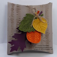 Vintage Leaves Square Pillow Box Stamping' Up! Creative Possibilities