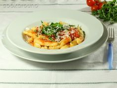 Cavatelli pasta with rocket and ricotta