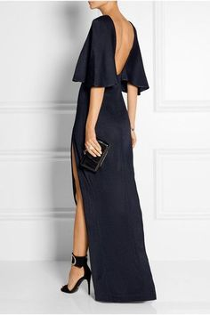 Cushnie et Ochs - Open-back stretch-satin jersey maxi dress Elegant Dresses, Pretty Dresses, Beautiful Dresses, Formal Dresses, Looks Chic, Fashion Mode, Street Fashion, Mode Style, Dress To Impress