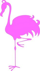 Flamingo Clipart Image - Silhouette of a Pink Flamingo Standing on ...