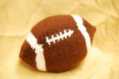 Knitted Football--this year's Teacher Appreciation Day gift