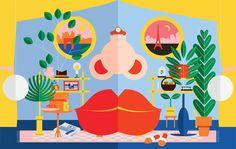 Loving these colorful illustrations by Italo-Swedish freelance illustrator and designer Kiki Ljung.