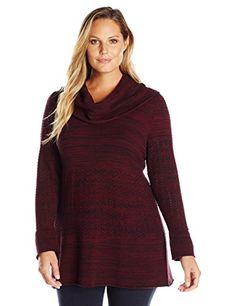 Heather B Women's Plus Size Cowl Neck Marled Tunic, Clare... https://www.amazon.com/dp/B01JRU734Y/ref=cm_sw_r_pi_dp_x_B-SKybM81EGZJ