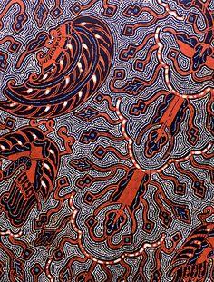 Batik fabric design by Nyi Djogo Pertiwi, Indonesia Textile Patterns, Textile Design, Fabric Design, Textile Art, Indonesian Art, Batik Art, Batik Pattern, Fabric Rug, Batik Dress