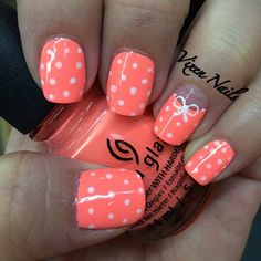 I love polka dots! Always have, always will! vixen_nails #nail #nails #nailart