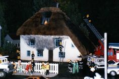 The Burning House in Babbacombe Model Village