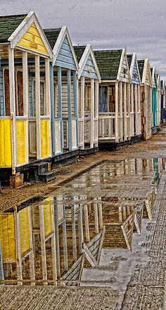 Reflection of Beach Huts
