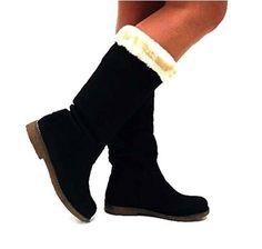 Bottes Fourrées Femme Noire #Bottesetboots #chaussures http://allurechaussure.com/bottes-fourrees-femme-noire/