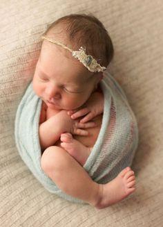 Mohair Pale Blue Wrap and Tieback Set Newborn by PetuniaandIvy