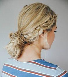 Double Dutch Braid Bun - 101 Pinterest Braids That Will Save Your Bad Hair Day