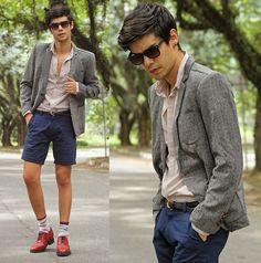 Not sure if I like the shorts, but: Nvision Shorts, Minga Berlin Socks, Guidomaggi Shoes, Zealotries Blazer