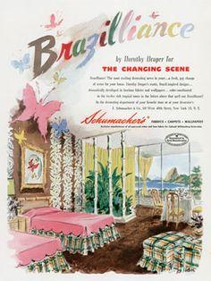 Schumacher fabrics called Brazilliance designed by Draper.