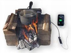 Hatsuden-Nabe is a thermoelectric cooking pan with a built-in USB port. This new product from TES New Energy Corporation, Japan can charge the battery of your iPhone and other gadgets using the heat from an open fire. It is especially beneficial when you are out camping for a few days and there is a dearth of power outlets as there is always a need for GPS, compass and emergency calls.