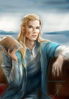 Character Portraits, Character Art, Character Design, Fantasy Male, Fantasy Story, Tolkien, Glorfindel, Male Elf, Loki