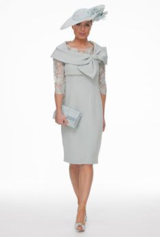 Mother of the Bride London Glasgow Joyce Young Mother Of The Bride Fashion, Mother Of Bride Outfits, Mother Of Groom Dresses, Mothers Dresses, Dress With Bow, Lace Dress, Mob Dresses, Formal Dresses, Bride Dresses