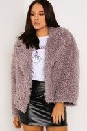 Purple Faux Fur Shaggy Coat - Coats & Jackets - Clothing | LASULA